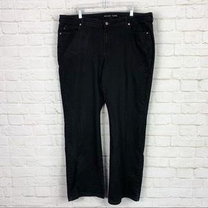 Michael Kors Black Stretch MidRise Bootcut Jeans